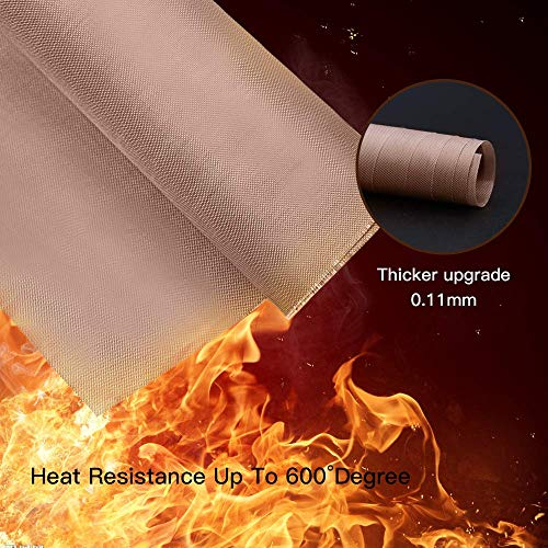 YRYM HT Ptfe Teflon Sheet Non-Stick Paper Reusable for Heat Press Resistant Craft Mat (3 Pack, 16 x 20 Inches)