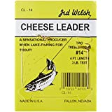 Jed Welsh Cheese Leader Rigs With (2) Packs Of #12 And #14 Size Hooks, Pre-Tied Ready To Fish-4-Packs