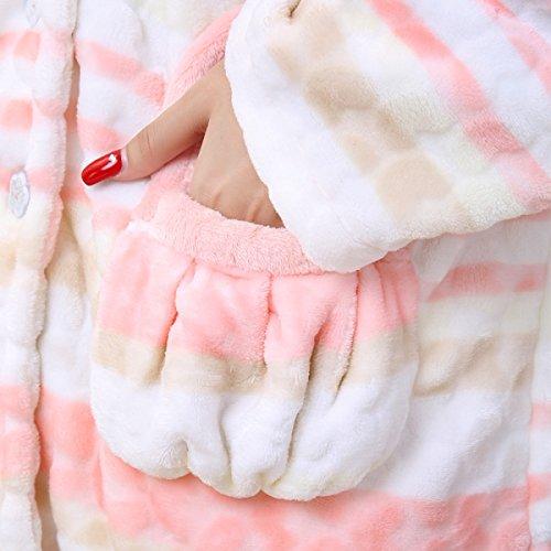 Autunno E Inverno Delle Donne Set Di Pigiama A Maniche Lunghe Per Indumenti Da Notte In Stile A Righe White