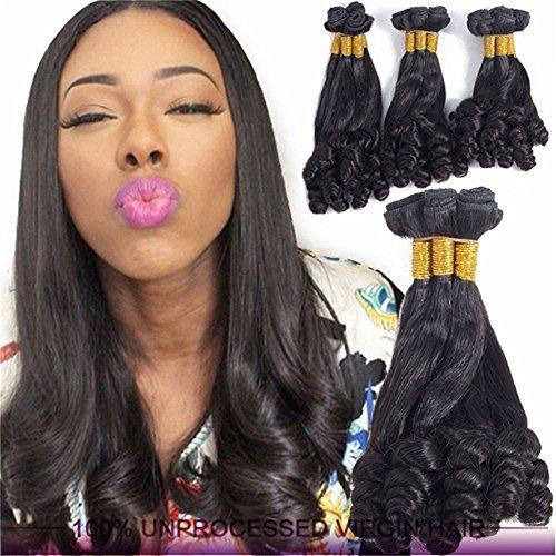 Fai africano funmi vergine extensions capelli 8a brasiliano rimbalzante riccio capelli tessitura umano trama naturale colore 1 bundle 100g, 14
