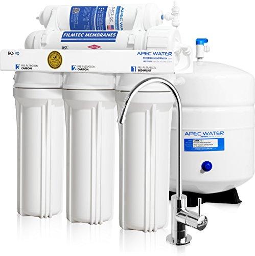 apec Top Kontingent Supreme zertifiziert Hohe Durchflussmenge 90GPD Ultra Safe Umkehrosmose Trinkwasser Filter System (Ultimate ro-90)