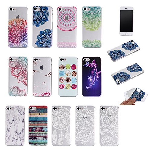 "For IPHONE 7 PLUS 5.5""[COLORFUL TPU DTV1]Scratch-Proof Ultra Thin Rubber Gel TPU Soft Silicone Bumper Case Cover -DTPUV105 DTPUV101"