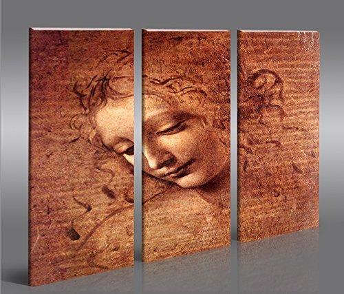 De Imágenes sobre lienzo la scapi Leonardo Da Vinci XXL Póster Lienzo Cuadro de decoración salón Marca Islandburner