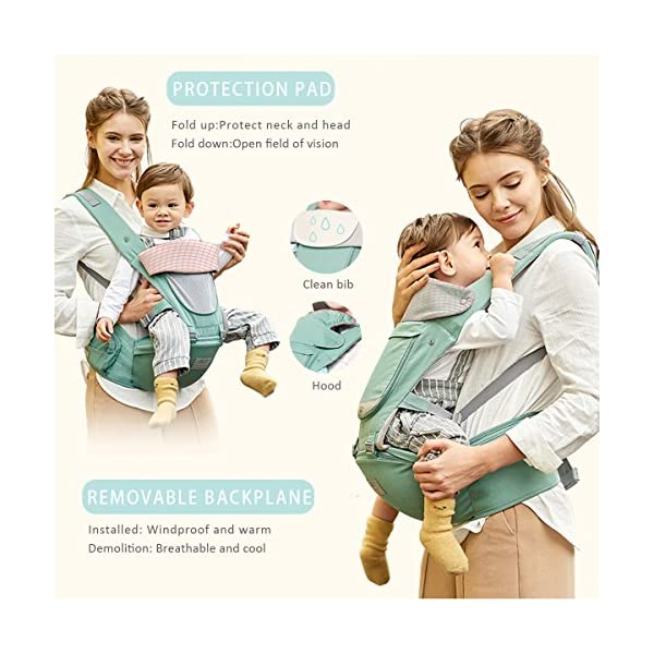 SONARIN 3 in 1 All Season Breathable Hipseat Baby Carrier,Sun Protection,Ergonomic,Multifunction,Easy Mom,Adapted to Your Child's Growing, 100% Guarantee and Free DELIVERY,Ideal Gift(Pink) SONARIN Applicable age and Weight:0-36 months of baby, the maximum load: 30KG, and adjustable the waist size can be up to 45.3 inches (about 115 cm). Material:designers carefully selected soft and delicate Cotton cloth. Resistant to wash, do not fade, ensure the comfort and wear resistance, Inner pad: EPP Foam,high strength,safe and no deformation,to the baby comfortable and safe experience. Description: patented design of the auxiliary spine micro-C structure and leg opening design, natural M-type sitting.Side double storage bag, store mobile phones, wipes and other necessities. H-type bridge belt, effectively fixed shoulder strap position, to prevent shoulder straps fall, large buckle, intimate design, make your baby more secure. 5