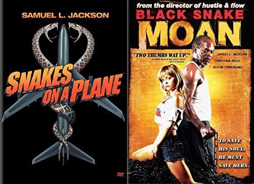 Samuel + Snakes- It's Complicated- 2 DVD Bundle - Snakes on a Plane & Black Snake Moan (Award Winning Samuel L Jackson Feature Films)