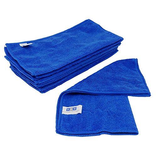 10 x SBS Mikrofasertücher 30 x 30 cm blau Microfasertuch Mikrofaser Tuch Microfasertücher