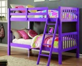 Donco Kids Twin Over Twin Grapevine Bunk Bed Grape by Bunk Bed Kingdom