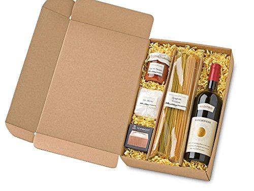 Fattoria San Vincenzo italienischer Geschenkkorb Al Dente – Gourmet Spezialitäten – Delikatessen Geschenk Set mit Pasta und Rotwein aus Italien