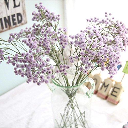 Preisvergleich Produktbild Dragon868 Künstliche Seide Lila Gefälschte Blumen Baby's Atem Blumen Hochzeit Bouquet Party Dekore (Lila,  Künstliche Blume)
