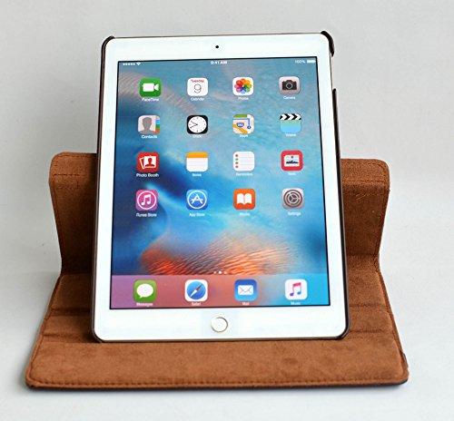 inShang iPad Pro 10.5 Custodia per Apple IPAD Pro 10.5 inch (2017) Cover case in pelle PU - La rotazione a 360 gradi bene funzionante, supporto per tenere L'iPad sollevato, magnetico per sleep e stand brown