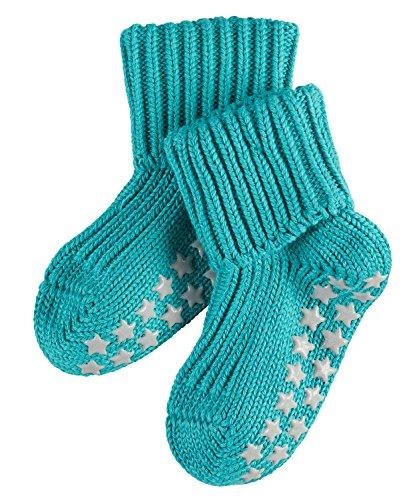 FALKE Unisex Baby Socken Cotton Catspads, Türkis (Oxygreen 7332), 62 (Herstellergröße: 62-68)