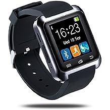 Netspower U80 Fitness y Actividad Rastreador Inteligente Bluetooth Touch Screen 4.0 Abrigo Reloj de Pulsera Teléfono Sportswatch Podómetro Ajuste Apto Smartphones Android IOS de Apple iPhone 5 / 5C / 5S / 6/ 6 Plus HTC LG SONY Samsung S4 / Note 2 ( Negro )