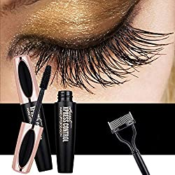 DR.MODE 4D Fiber Lash Mascara - Waterproof Long Lasting Extension Long Eyelash Mascara with Free Eyelash Comb - Black