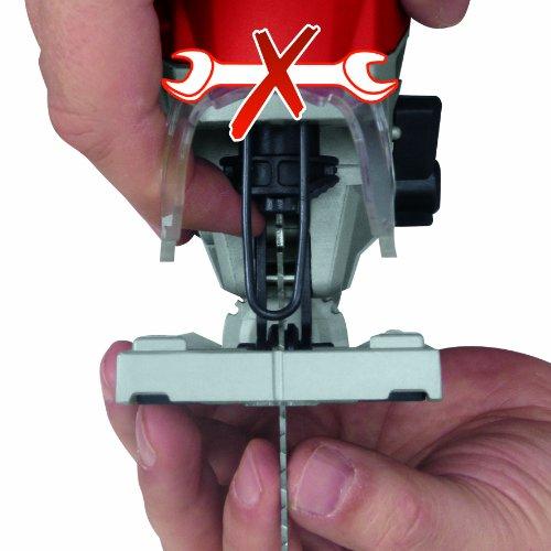 Einhell Stichsäge TE-JS 100 (750 W, max. 100 mm, 45° Schrägschnitt, Hubzahlregelung, 4-Stufen Pendelhub, Absaugadapter, Parallelanschlag, LED-Licht, Koffer) - 4