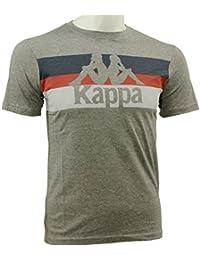 Kappa SKIPPA TEE Camiseta Gris Azul Rojo para Hombre Autentico Limited Edition