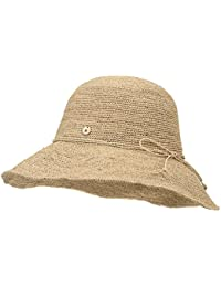 ililily Raffia Big Brim Sun Hat Ribbon Summer Cool Floppy Hat