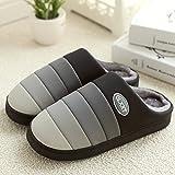Zapatillas de algodón impermeable invierno gruesa Base Conservar el calor de interior casero flip-flop ( Tamaño : EU41-42 )