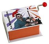 Boîte à musique à manivelle en forme de livre - La marseillaise (Rouget de Lisle)