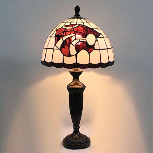 12-Zoll-Kansas State Wildcats Glasmalerei Tischlampe