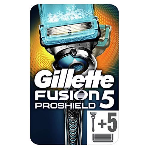 Gillette Fusion5 ProShield Chill Rasierer mit sechs Rasierklingen, 1 Stück, briefkastenfähige Verpackung