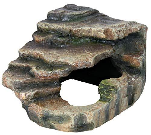 Trixie 76194 Eck-Felsen mit Höhle und Plattform, 16 × 12 × 15 cm