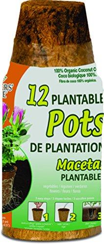 Pots de fleurs Pride Rzr02252 2,25 rond Fibre développer de noix de coco en fibre de coco Pots, 12-pack