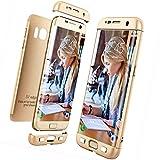 XCYYOO Funda para Samsung Galaxy S7 Edge Custodia de 360°Caja Protectora PC Shell,Carcasa Samsung Galaxy S7 Edge Silicona Snap On Diseño Antigolpes Choque Absorción Bumper Cubierta 3 en 1 Estructura