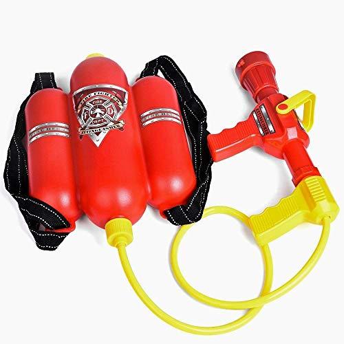 Snner Fireman Spielzeug Rucksack Wasserpistole Blaster Löscher mit Düse und Behälter-Set Kinder Outdoor Wasser Spielzeug, Strand-Spielzeug, Sommer Spielzeug, Badewanne Spielzeug für Kinder ()