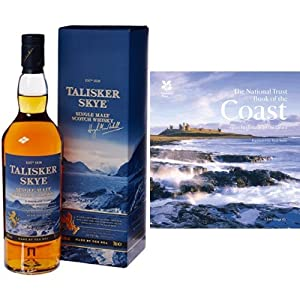 Talisker Skye Single Malt Scotch Whisky and The National Trust Book of the Coast