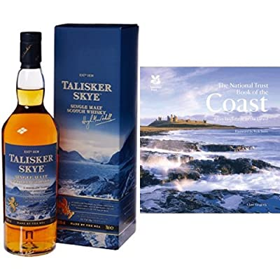 Bundle: Talisker Skye Single Malt Scotch Whisky 70cl and The National Trust Book of the Coast