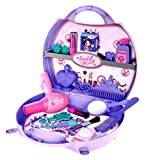#5: Toyshine Carry Along Beauty Set Toy with Briefcase, 29 Accessories