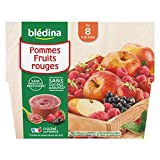 Blédina 4 Coupelles Pommes Fruits Rouges dès 8 mois