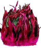 ERGEOB Hahn Feder Stoffstreifen 2 Meter - Ideen für die Bekleidung, Kostüme, Hüte rosa