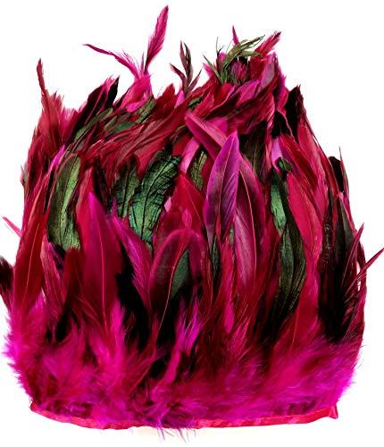 nfedern auf 200cm Stoffstreifen in Rosa - 13 Farbvarianten - Ideal für Fasching, Karneval, Halloween, Basteln, Bekleidung, Kostüme. ()