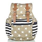 #10: Mammon women's backpack handbag (Khaki)
