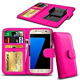 N4U Online® Posh Titan Max HD E550 PU-Leder-Clip-Mappen-Kasten-Abdeckung mit Kreditkarte, Notes & ID Slots - Pink