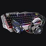 L&Y Gaming-Tastaturen Mechanisches Gefühl Spiel Tastatur Maus Set Laptop nach Hause LOL periphere Maus und Tastatur Gaming-Tastaturen (Farbe : B, größe : S)