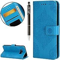 Galaxy S8 Plus Hülle,Galaxy S8 Plus Ledertasche Handyhülle Brieftasche im BookStyle,SainCat Retro 3D Palast Blume... preisvergleich bei billige-tabletten.eu