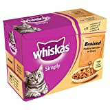 Whiskas Simply Braised Poultry Selection in Gravy, 12 x 85g