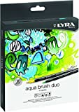 LYRA 6521360 Aqua Brush Duo Pinselmaler, Fasermaler, farbig sortiert, 23,3 x 4,0 x 17,4 cm
