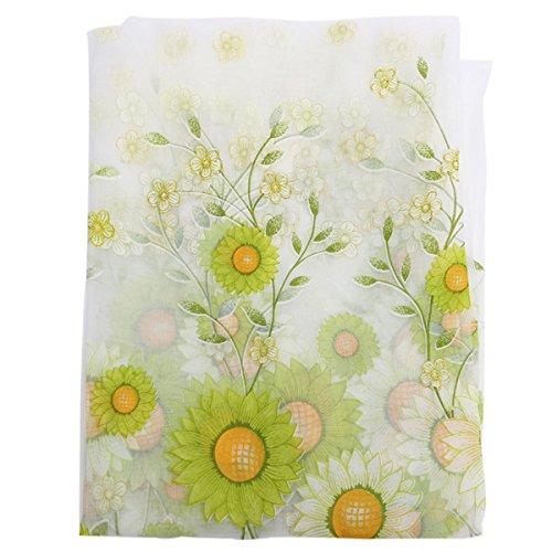 PANGUN 100X200Cm Sonnenblume Tüll Voile Schiere Fenster Bildschirm Schlafzimmer Fenster Vorhang -