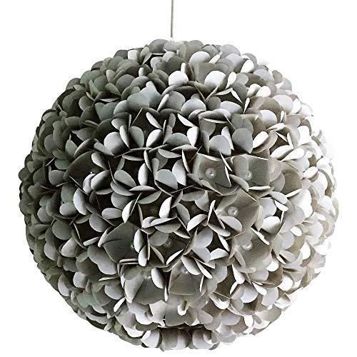 Grey Pearlflower, graue Lampe Lampenschirm Hängeleuchte Hängelampe Papierlampe Reispapierlampe Stimmungslampe Wohnzimmerlampe Schlafzimmerlampe Deckenlampe