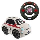 Chicco - Coche radiocontrol Fiat 500 Sport, con volante intuitivo y sonidos - Chicco - amazon.es