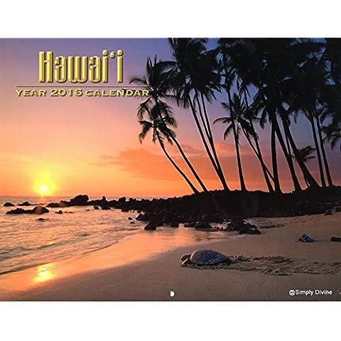 2016 Hawaii tutte le Isole Hawaii Hawaiian-Calendario a parete
