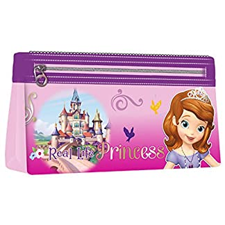 Princesa Sofia-Estuche escolar, 2 cremalleras Sofia the First Disney