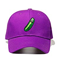 Rbfqfm Brand Pickle Rick Dad Hat 100% Cotton Rick and Morty Gorra de Beisbol US Anime Cotton Embroidery Snapback Whimsy Hats for Men Mujer,Purple