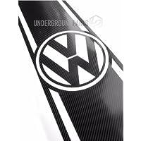 VW Transporter T4, T5, T6Caddy Van cofano/stivali a righe in vinile, colore: nero fibra di carbonio