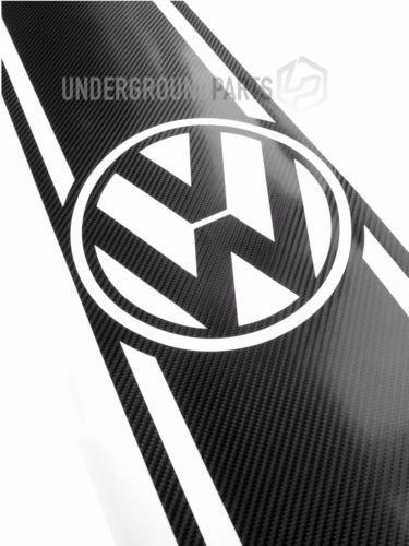 UNDERGROUND PARTS Motorhaube/Kofferraum Streifen Aufkleber-Schwarz Carbon Faser (Motorhaube Streifen)