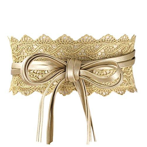 "Maikun Damen Gürtel Gr. Taille 29/39\"", Lace Golden"
