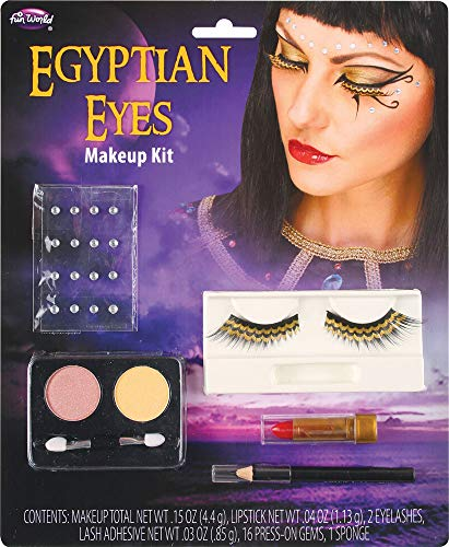 Fancy Me Damen-Make-up-Kostüm, ägyptische Augen-Prinzessin, Cleopatra, Kostüm, Outfit